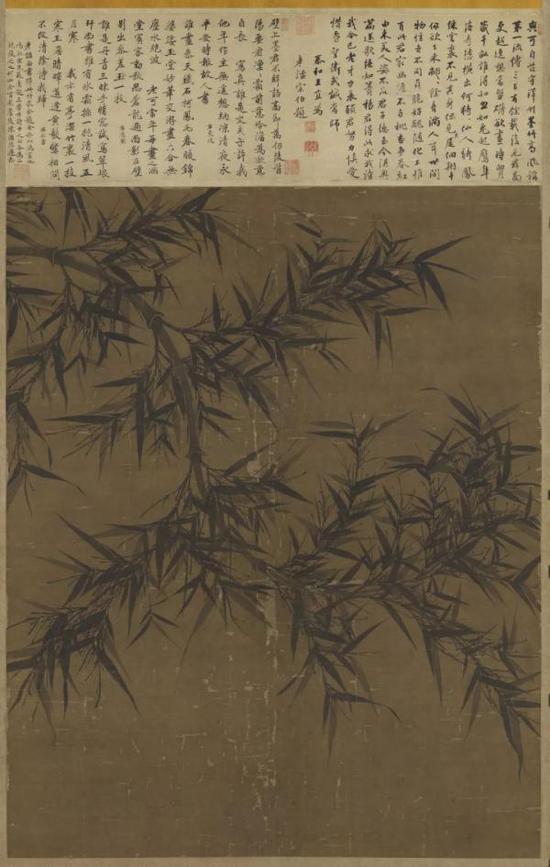 宋  文同  墨竹图 台北故宫博物院藏(复制品)