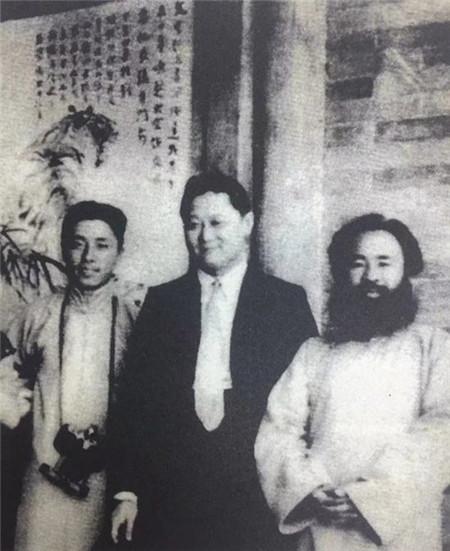 1920年代,张大千与张目寒、刘旭沧在上海