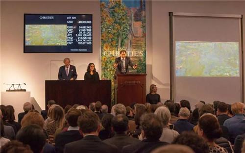 莫奈巨幅作品《睡莲池》以31,812,500美元成交