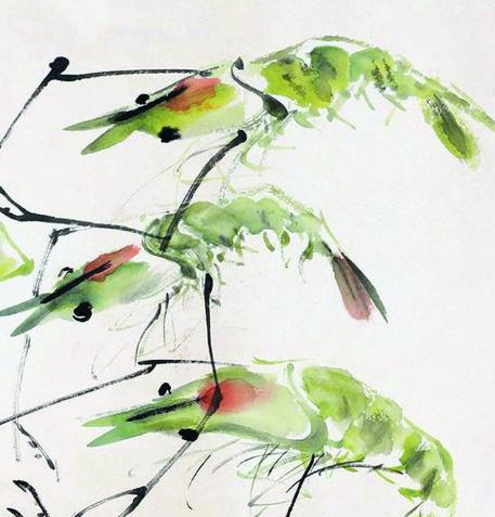 张大壮《群虾图》:玲珑透明 妙趣横生