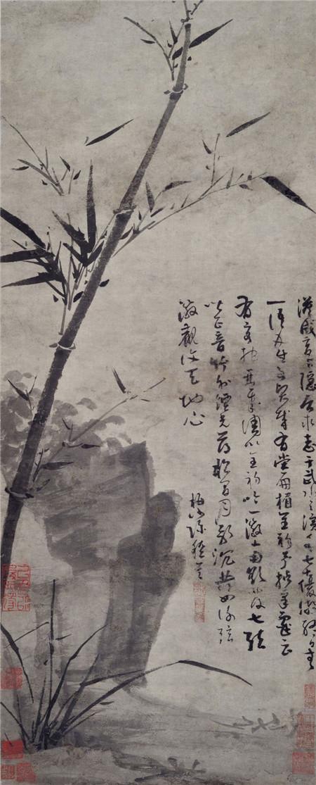 吴镇《竹石图》