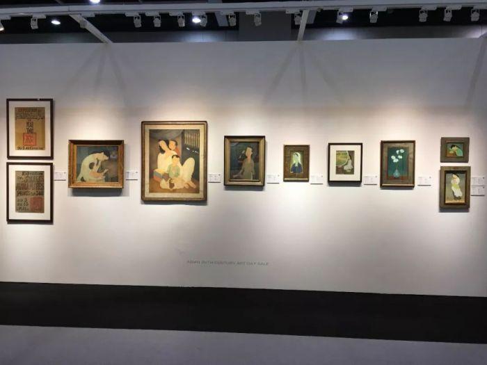 佳士得亚洲二十世纪艺术日场,越南艺术家梅忠恕作品表现杰出。