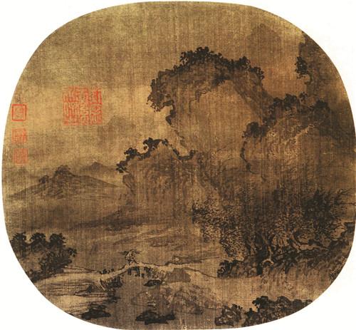 南宋江参《日暮归渔图》,现藏于美国波士顿艺术博物馆