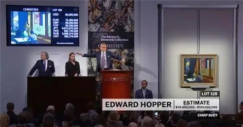 """纽约佳士得""""美国之地:巴尼‧艾伯斯渥斯珍藏晚间拍卖""""现场"""