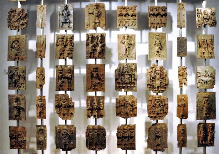 大英博物馆所藏的贝宁青铜器模具图片:wikimedia
