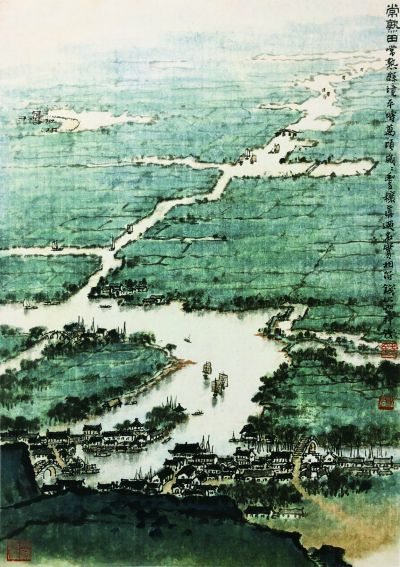 常熟田(国画) 52.8×35.7厘米 1963年 钱松嵒 中国美术馆藏