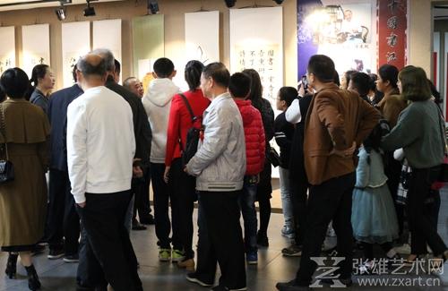 陈东帆先生与观展嘉宾交流