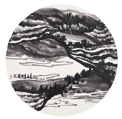 墨韵三界外(中国画)  沉浮