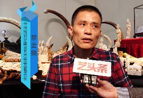 中国猛犸牙雕刻艺术传委员副会长黎金植参加佛山市第十四届秋季艺术博览会