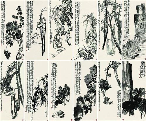 花卉十二屏 北京保利2017年秋拍 目前吴昌硕最高价作品