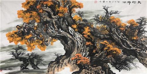 艺术家黄杨捐赠山水画 助力600年古刹巴郎寺通水