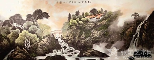 黄杨国画《景色宜人》拍出近11万元高价