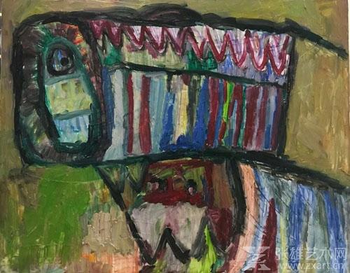 道格油画,《大老虎》,80*100cm,8000元