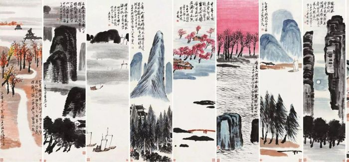齐白石山水十二屏 北京保利  最终成交价9.315亿元,成为目前中国最贵艺术品