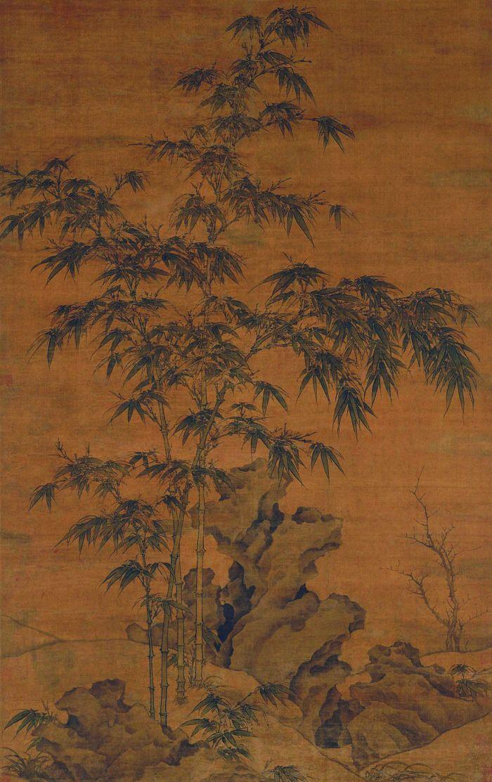 卷图2 李衎《竹石图》轴