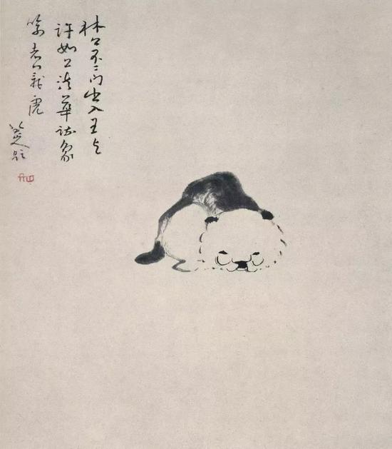 除了翻着白眼的鱼和鸟,八大山人也画猫