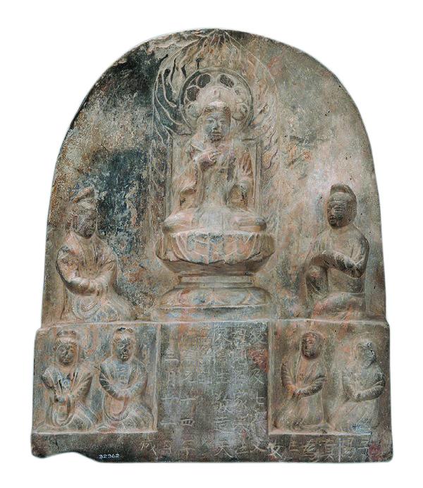 端方外赠的唐代大理石佛像,美国菲尔德博物馆藏