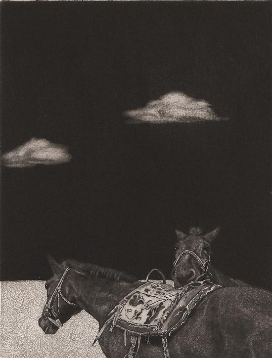 乔丽 内蒙古 马·思 21×27cm (作品选自全国首届大学生艺术作品展)