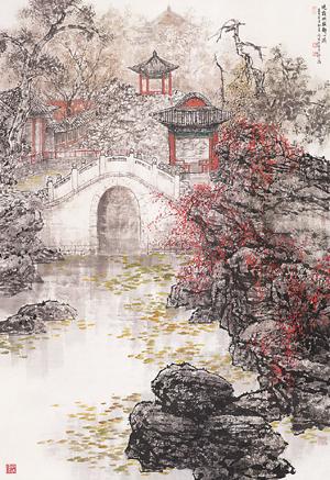晓霜幽寂静心斋(纸本设色)  北京画院藏 王明明