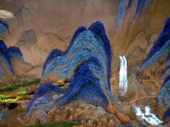 《千里江山图》为主题的展览。记者 魏梦佳 摄