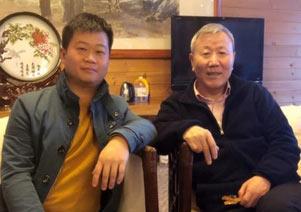 汇源集团朱新礼会见张雄艺术网陈家心