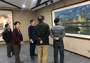 厦门市政协领导参观张雄艺术网
