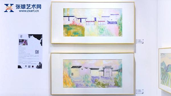 青年艺术家孙晓岚画作亮相2019艺术西湖·第二届国际水墨博览会!