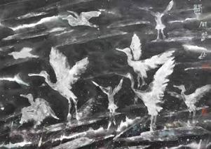 邵同福濕地冰雪花鳥畫開山作品